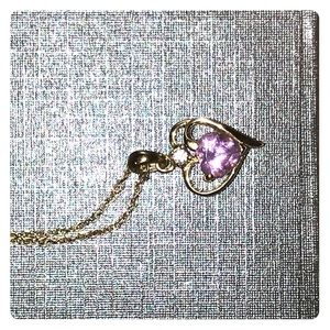 Amethyst earrings and necklace